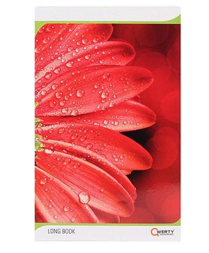 Qwerty Long Single Line Notebook Leaf With Water Print - 68 Pages