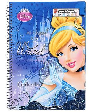 Bilt Matrix Junior Notebook Cinderella Print - 160 Pages