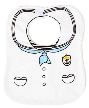 Little Hip Boutique Super Sailor Bib - White