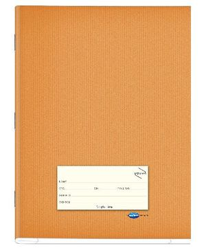 Youva Note Book Soft Bound Jumbo Single Line Brown - 76 Pages
