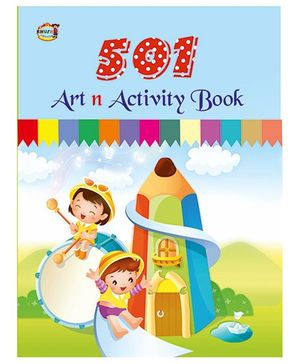 501 Art And Activity Book - English