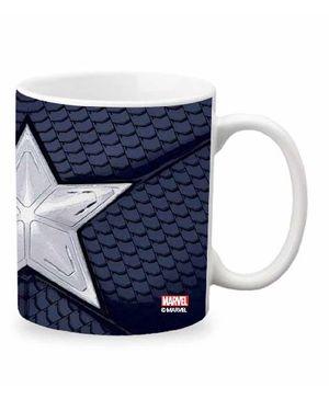 Orka Captain America Star Digital Printed Coffee Mug Blue - 325 ml