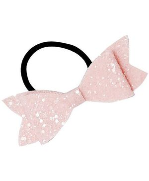 D'Chica Shimmer And Shine Bow Rubber Band - Pink