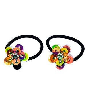 D'Chica Set Of 2 Glam Colours Rubber Bands - Multicolor