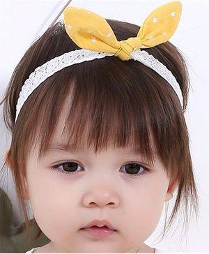 Little Cuddle Bunny Lace Headband - Yellow