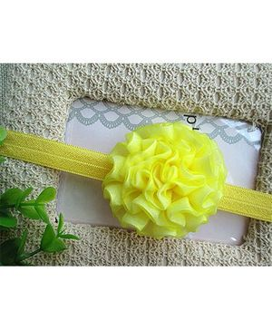 Little Cuddle Double Layered Silk Flower Headband - Yellow