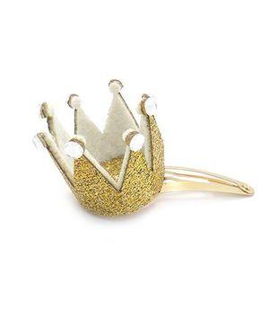 Little Cuddle Crown Hair Clip - Gold