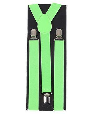 Kid O Nation Plain Suspenders - Green