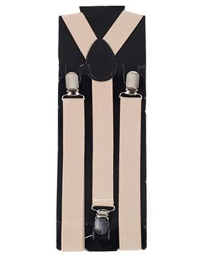 Kid O Nation Plain Suspenders - Cream