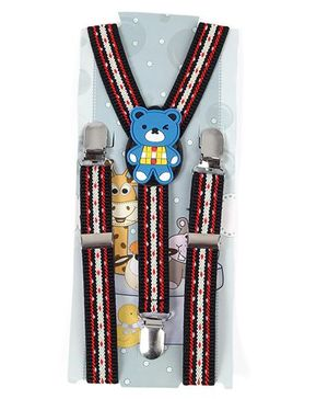 Kid O Nation Suspenders With Teddy Patch - Red White