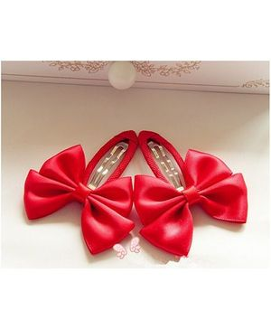 Angel Closet Bow Hair Clips - Red
