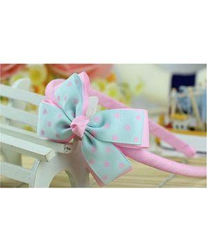 Angel Closet Bow Hair Band - Blue Pink
