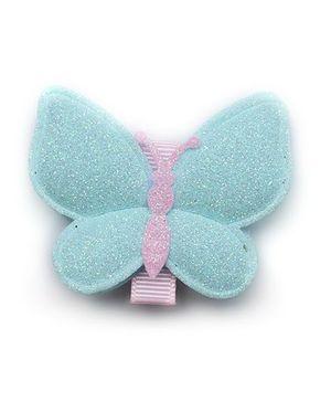 Angel Closet Glitter Butterfly Clip - Aqua