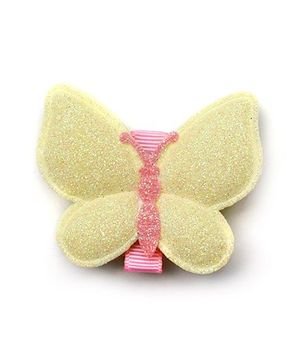 Angel Closet Glitter Butterfly Clip - Yellow