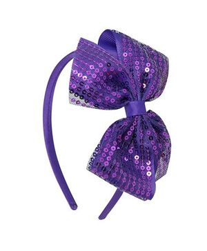 Angel Closet Sequinned Hair Band With Bow - Purple