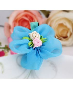 Angel Closet Flower Hair Clip - Blue