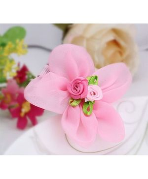 Angel Closet Flower Hair Clip - Pink