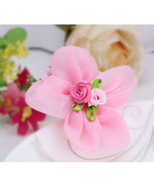 Angel Closet Flower Hair Clip - Pink