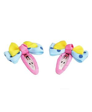 Angel Closet Bow Hair Clips - Pink Blue