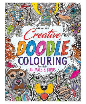 Creative Doodle Colouring Animals & Birds - English