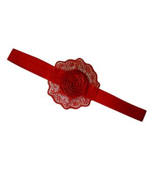 Little Miss Cuttie Floral Headband -  Red