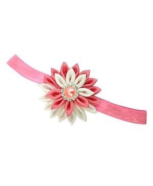 Little Miss Cuttie Floral Headband -  Pink