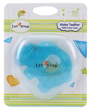 1st Step Water Teether With Case - Blue