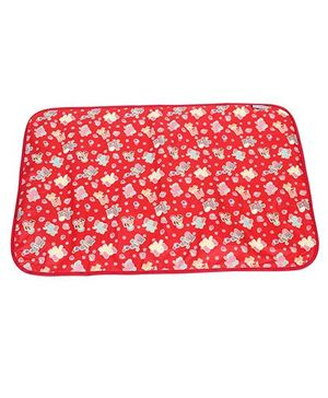 1st Step Baby Mat With Animals Print - Red