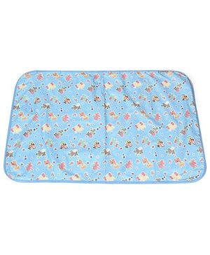 1st Step Baby Mat Animals Print - Sky Blue