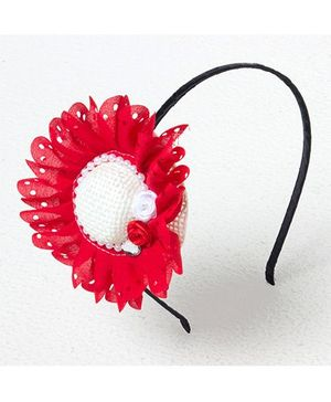 Bunchi Big Hat Hair Band - Red