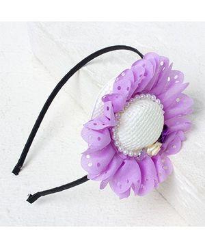 Bunchi Big Hat Hair Band - Purple