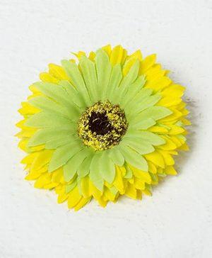 Bunchi Sunflower Big Hair Clip - Neon Yellow