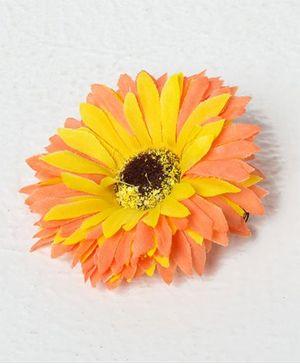 Bunchi Sunflower Big Hair Clip - Neon Orange