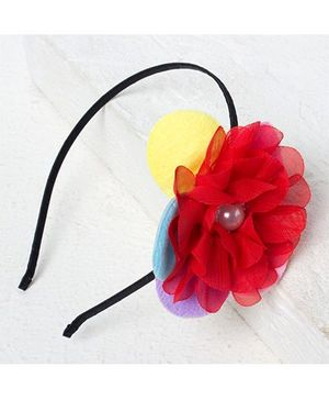 Bunchi Big Flower Metal Headband - Red