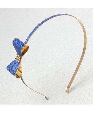 Bunchi Metal Bow Headband - Blue