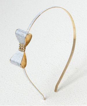 Bunchi Metal Bow Headband - White