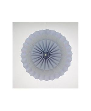 Funcart 3 Layers Paper Fan Kit Paper Rosettes Pinwheel With Paper Doilies DIY Backdrop Hanging Decoration - White