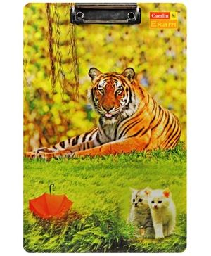 Camlin Exam Clip Board Tiger and Cat