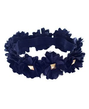 D'chica Dark Princess Black Flowers Tiara - Black