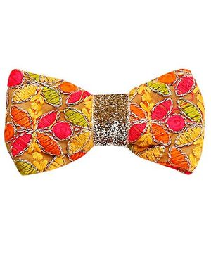 D'chica Ethnic Twist Set of 3 Bow Clips - Multicolour