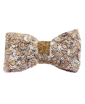 D'chica Bling Bow Hair Clip - Silver
