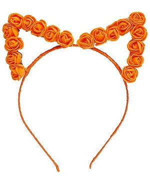 D'chica Chic Flower Ears Hairband - Orange