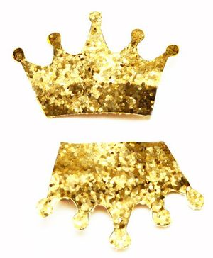 D'chica Sequined Princess Tiara Clips Set Of 2 - Golden