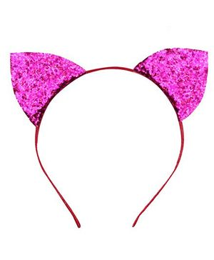 D'chica Chic Kitty Ears Hairband - Fuschia