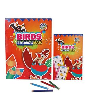 Chitra Birds Coloring And Activity Book - English