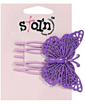 Stol'n - Butterfly Print Hair Clip