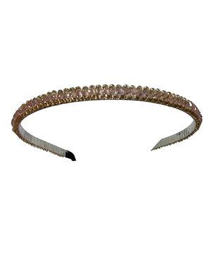 Aakriti Creations Crystal Beads Hair Band - Crystal