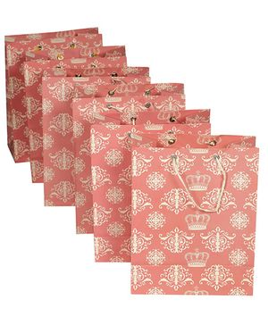 Papier Set Of 6 Crown Gift Bags - Multicolour