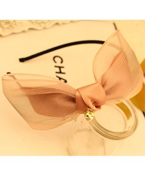 Little Miss Cuttie Elegant Bow Hair Band - Peach