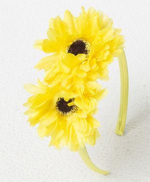 Treasure Trove Double Flower Hairband - Yellow
